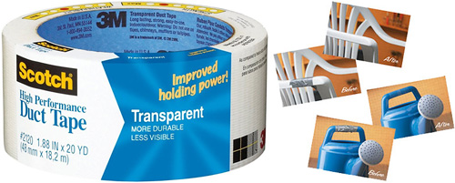 Scotch Transparent Duct Tape (Images courtesy The Green Head)