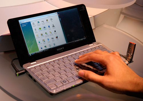 VAIO P Series Lifestyle PC (Image property of OhGizmo!)