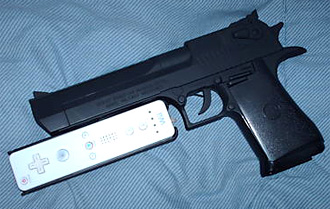 Custom Desert Eagle Wii Gun (Image courtesy eBay)