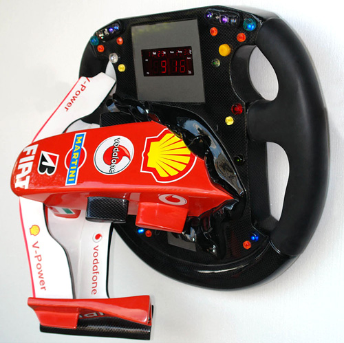 F1 Nose Cone and Steering Wheel with Clock and Neon Light (Image courtesy Yab Design)