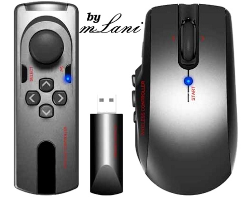 mLani PS3 Wireless FPS Controller (Image courtesy ALBOTAS)