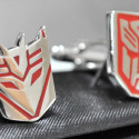 Transformers Cufflinks Bring A Touch Of Class/Intergalactic Giant Robot War To Your Outfit