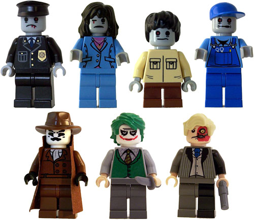 Custom LEGO Minifigs (Images courtesy The Big Toy Hut)