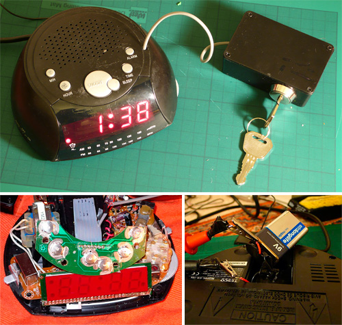 Saefty Alarm Clock (Images courtesy dylan2106 via Instructables)