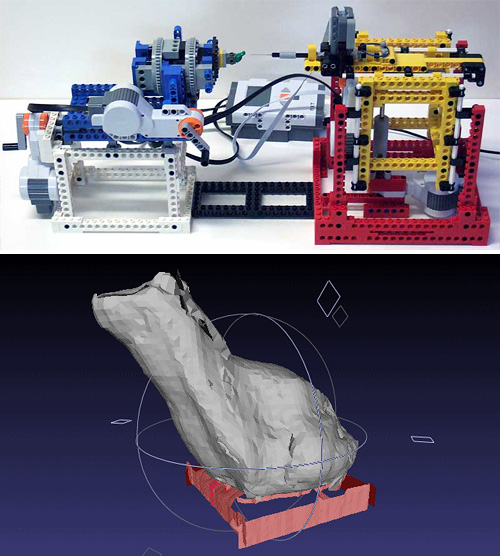 LEGO NXT 3D Scanner (Images courtesy Philo Hurbain)