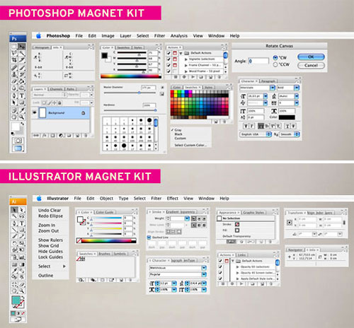 Photoshop Magnetic Board