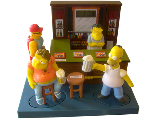 The Simpsons: Moe's Tavern 3D Talking Alarm Clock (Image courtesy Play.com)