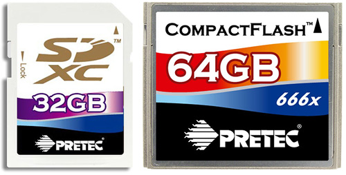 Pretec Memory Cards (Images courtesy Pretec)