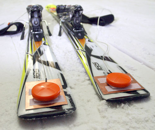 RFID Sensors On Skis (Image courtesy Fraunhofer-Gesellschaft)