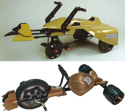 Ride-On Speeder Bikes (Images courtesy StarWars.com)