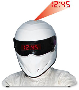 The Stig Helmet Projection Alarm Clock (Image courtesy Play.com)