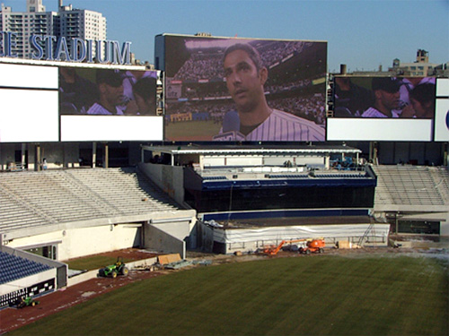 New Yankee Stadium Screen (Image courtesy CBS)