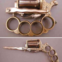 Bayonet + Brass Knuckles + Handgun = The Apache
