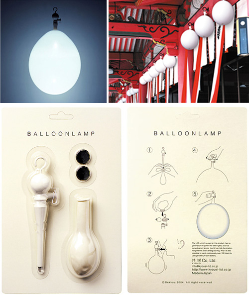 Balloon Lamp (Images courtesy the Japan Trend Shop)