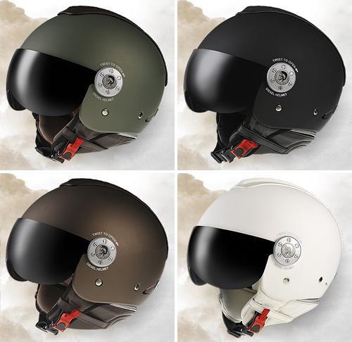 Diesel Motorcycle Helmets (Images courtesy Diesel)
