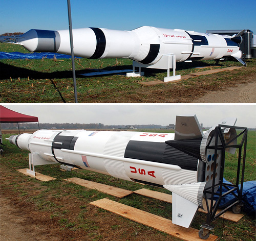 Steve Eves Saturn V Model Rocket (Images courtesy Rocketry Planet)