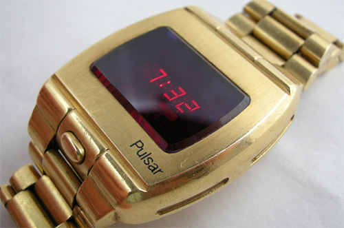 1972 Pulsar P1 Prototype LED Watch (Image courtesy eBay)