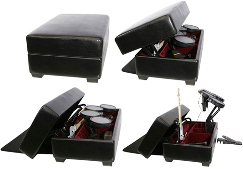 AK Rock Box Gaming and Storage Ottoman with Drum Lift (Images courtesy Amazon.com)