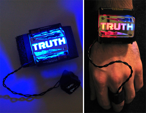 Truth Wristband Kit (Images courtesy MAKE Blog)