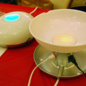 Visible Energy UFO Remote Control Power Strip And Color Changing Snack Bowl