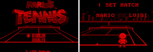 Mario's Tennis (Virtual Boy) (Images courtesy MobyGames)