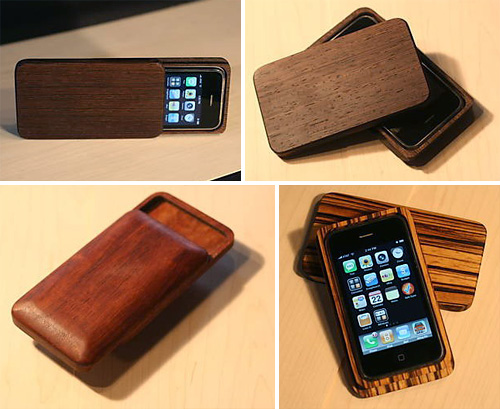 Wood iPhone Case - Custom handmade box for iPhone 3G (Images courtesy Etsy seller Substrata)