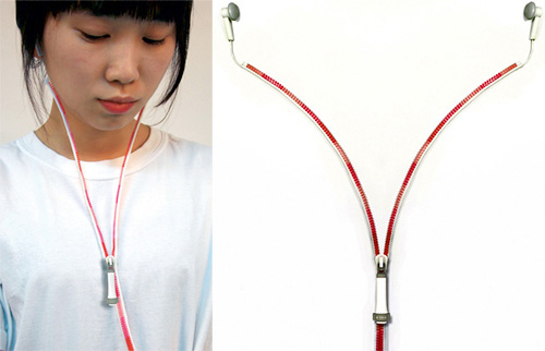 YI Zipper Earphones Concept (Images courtesy Yanko Design)