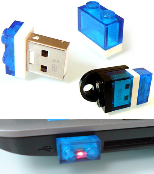 1GB Nano USB Stick in a 1x2 Lego Plate (Images courtesy Etsy)