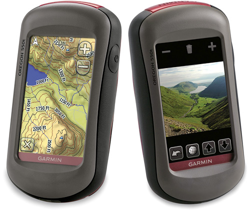 Oregon 550 & 550T (Images courtesy Garmin)