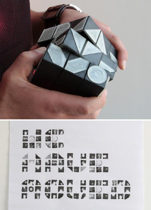 Rubik's Cube Font Generator (Images courtesy Jas Bhachu)