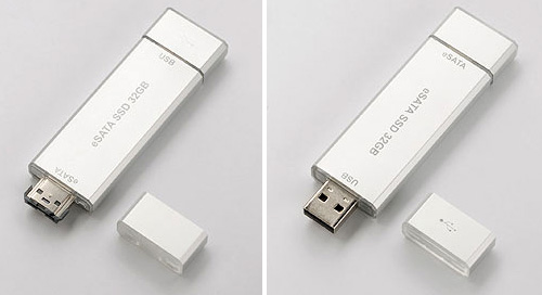 Sanwa eSata USB Flash Drive (Image courtesy Akihabara News)