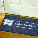 'Slide To Unlock' Doormat Tells The Neighbors That Geeks Be Here