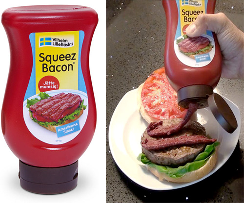 Squeez Bacon (Images courtesy ThinkGeek)