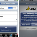 Push Notification Comes To AIM For iPhone