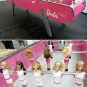 Barbiefoot Foosball Table