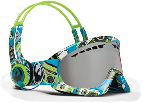 DX Skullcandy/Ionized Snow Goggles (Image courtesy Dragon Alliance)