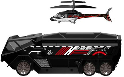 Heli-Mission SWAT Truck/Chopper (Image courtesy Silverlit)