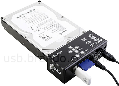 SATA HDD Multi-Media Player Adapter (Image courtesy USB.Brando.com.hk)