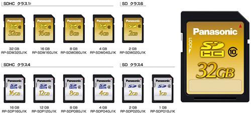 Panasonic Class 10 SDHC Cards (Images courtesy Panasonic)
