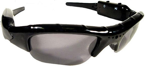 Covert Spy Camcorder Sunglasses (Image courtesy Geek Stuff 4 U)