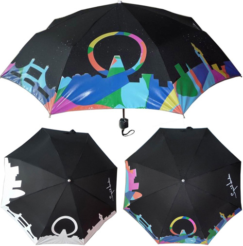 SquidLondon Hydrochromatic Umbrella (Images courtesy SquidLondon)
