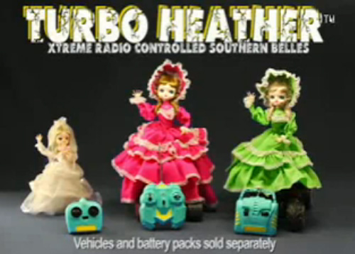Turbo Heather - Xtreme Radio Controlled Southern Belles (Image courtesy YouTube)