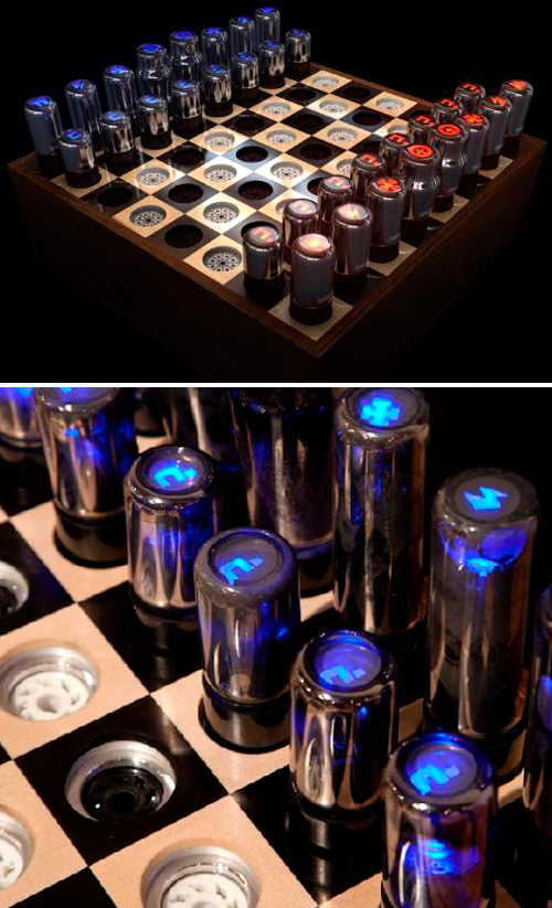 Chess Set for Tesla (Images courtesy All Visual Arts)