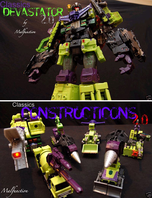 Custom Devastator Figure (Images courtesy eBay)