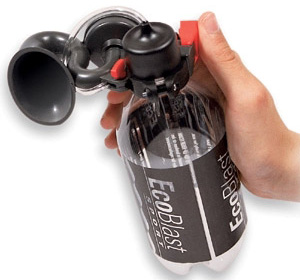 EcoBlast Rechargable Air Horn (Image courtesy Things You Never Knew Existed)