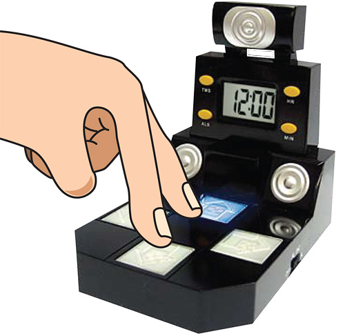 Finger Dance Alarm Clock (Image courtesy ThumbsUp!)