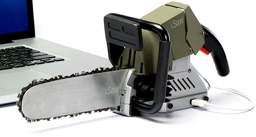 i.Saw USB-Powered Chainsaw (Image courtesy USBChainsaw.com)