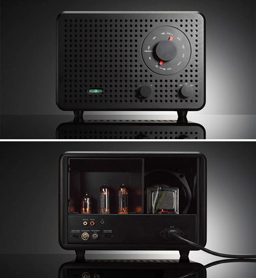 Jonas Damon 2B Ltd. Edition Vacuum Tube Radio (Images courtesy Design Public)