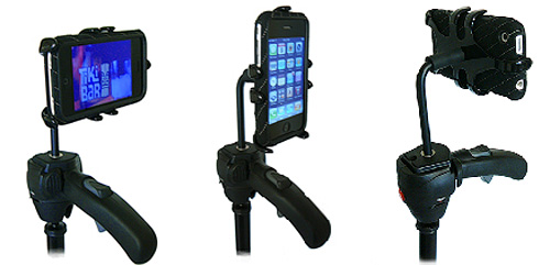 PED3-TriPhone and PED3-TriPhone-FORM iPhone Mounts (Image courtesy Thought Out)