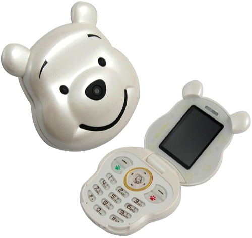 Winnie The Pooh Mobile Phone (Images courtesy 2dayBlog)